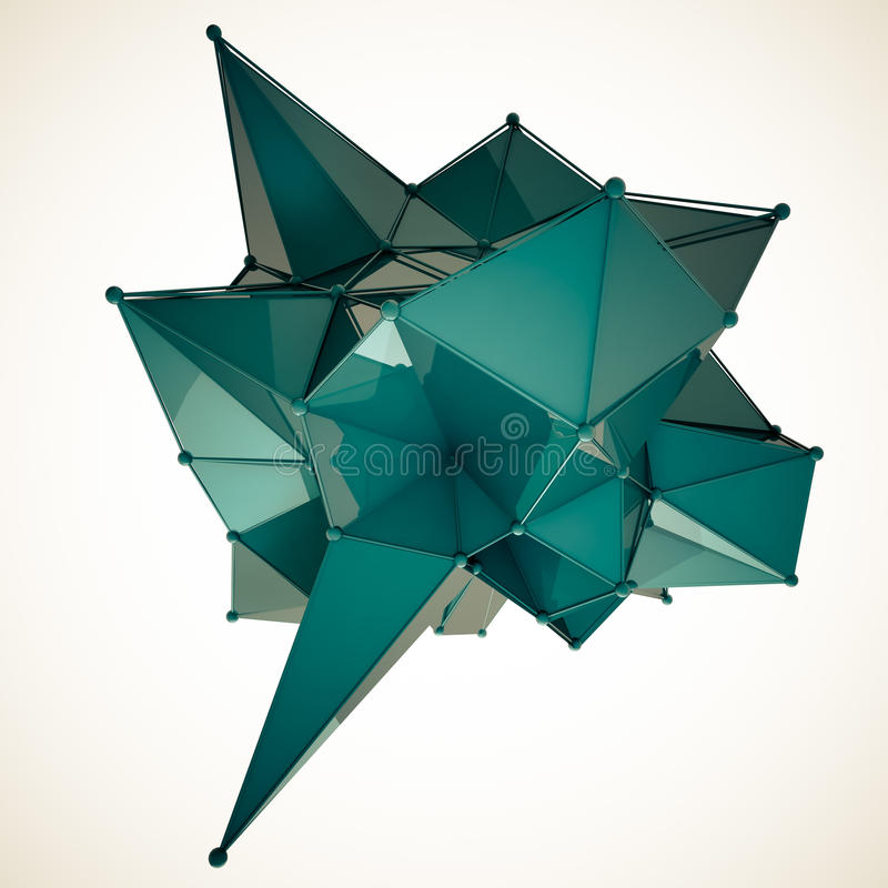 La structure 3d rendent les infographies CG. Illustration en cristal Un de l'ensemble Plus dans mon portfolio photos libres de droits