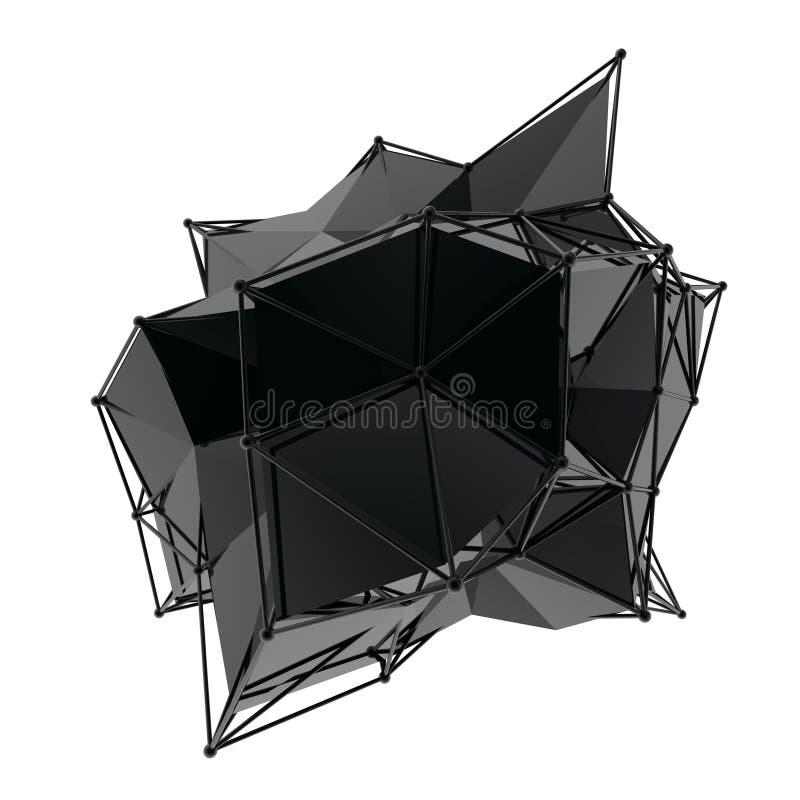 La structure 3d rendent les infographies CG. Illustration en cristal Un de l'ensemble Plus dans mon portfolio photo stock