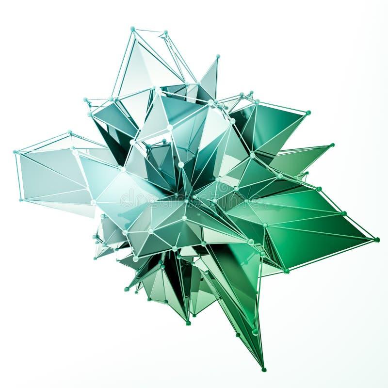 La structure 3d rendent les infographies CG. Illustration en cristal Un de l'ensemble Plus dans mon portfolio illustration stock
