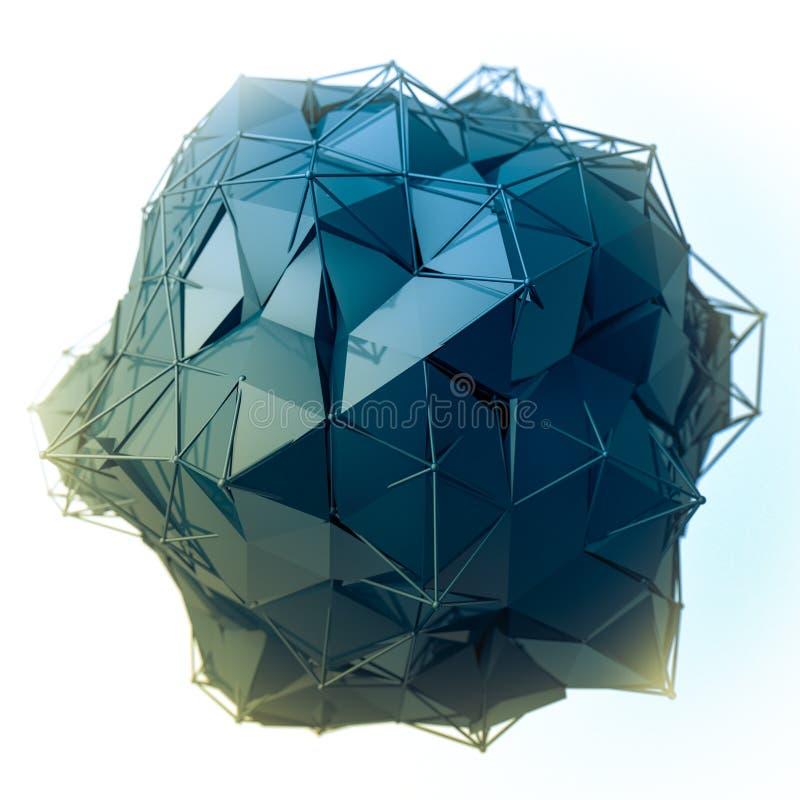 La structure 3d rendent les infographies CG. Illustration en cristal Un de l'ensemble Plus dans mon portfolio images libres de droits