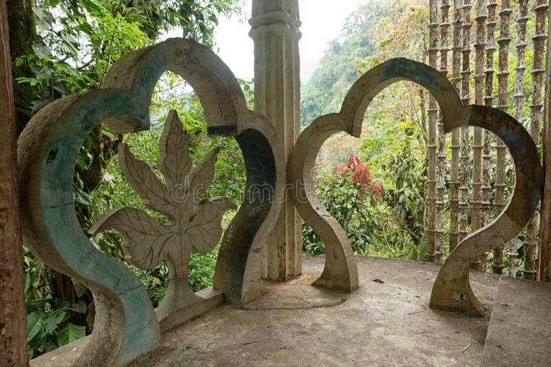 La structure en béton chez Edward James fait du jardinage Xilitla Mexique photographie stock
