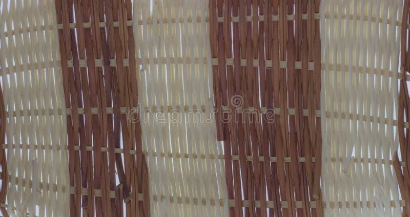 La structure et le fond du panier en osier Texture ronde de modèle Armure verticale et horizontale photographie stock
