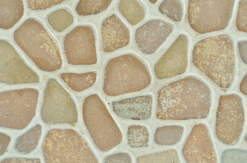 La struttura è una piastrella di ceramica del mosaico delle pietre rotonde immagini stock libere da diritti