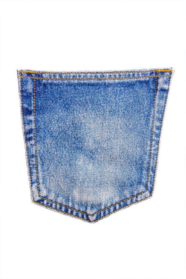 La struttura blu della tasca del tralicco del denim è il modo classico dell'indaco de immagine stock libera da diritti