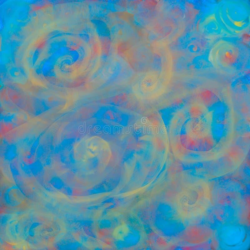 La struttura con i cerchi vaghi accende l'astrazione per un fondo, l'illusione di luce, spirale, pendenza royalty illustrazione gratis