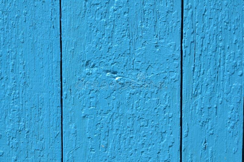 La struttura dei bordi di legno è dipinta blu immagini stock libere da diritti