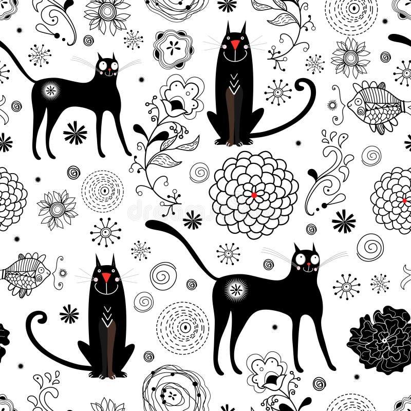La struttura dei gatti neri royalty illustrazione gratis
