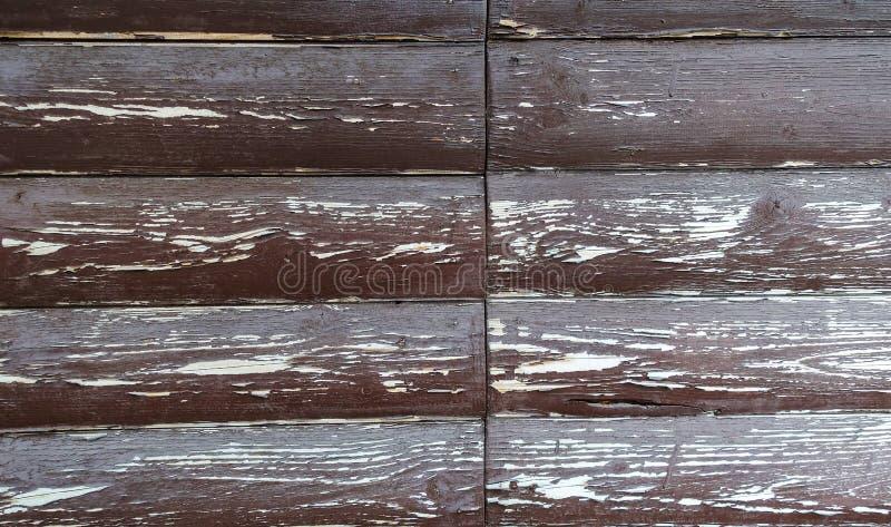 La struttura del bordo con la pelatura della pittura Priorit? bassa astratta per il disegno Brown con i bordi arrotondati bianchi fotografie stock libere da diritti