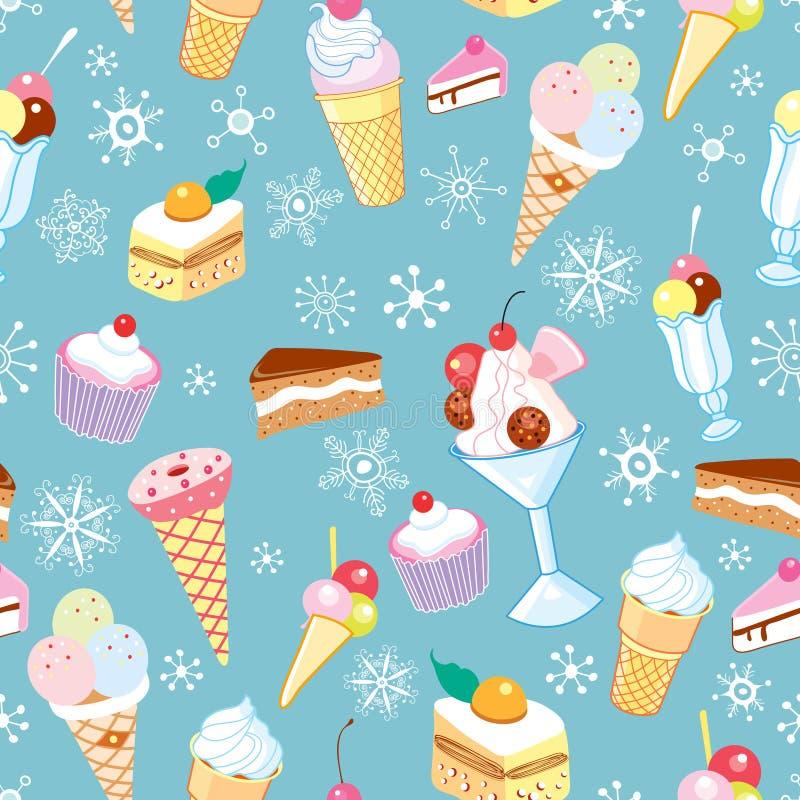 La struttura del gelato e dei fiocchi illustrazione vettoriale