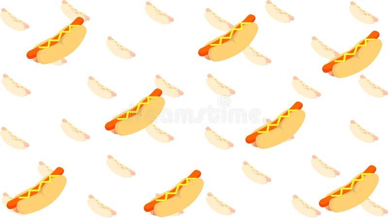 La struttura del hot dog illustrazione di stock