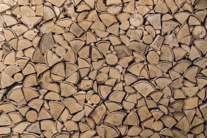 La struttura del legno dei ceppi spaccati immagini stock libere da diritti