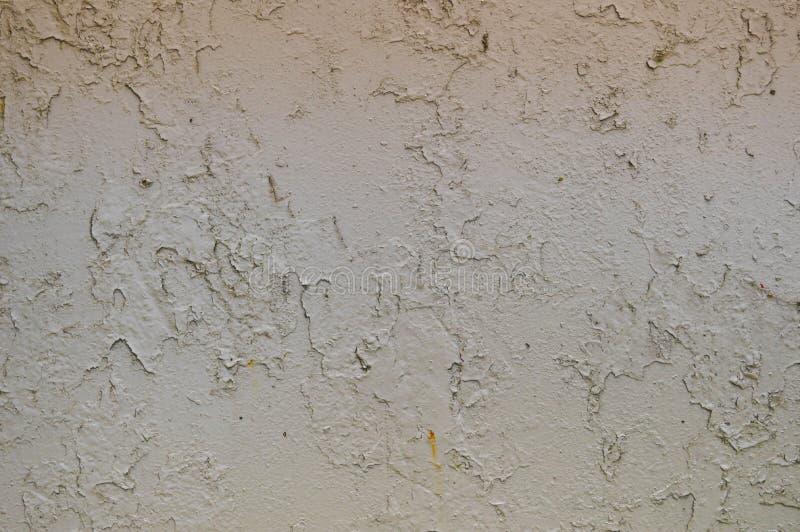 La struttura del metallo del ferro ha dipinto la pittura di pelatura grigia di vecchio avariato graffiato ha fenduto la parete ar immagine stock libera da diritti