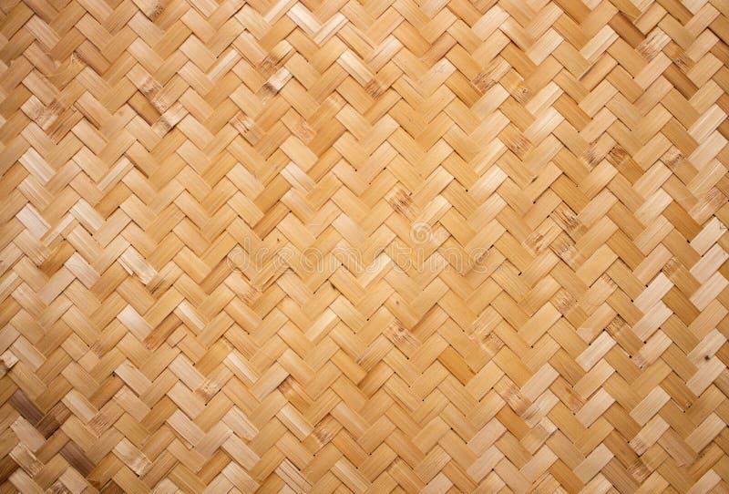 La struttura del rattan, dettaglio handcraft il fondo di bambù di struttura di tessitura fotografia stock
