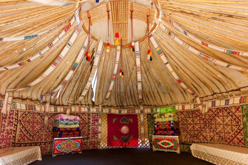 La struttura del Yurt fotografia stock libera da diritti