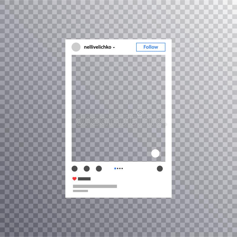 La struttura della foto ha ispirato da instagram per la divisione di Internet degli amici Posta sociale della struttura della fot royalty illustrazione gratis