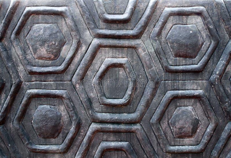 La struttura delle coperture della tartaruga della parete fotografia stock libera da diritti