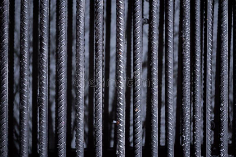 La struttura delle sbarre di ferro immagini stock