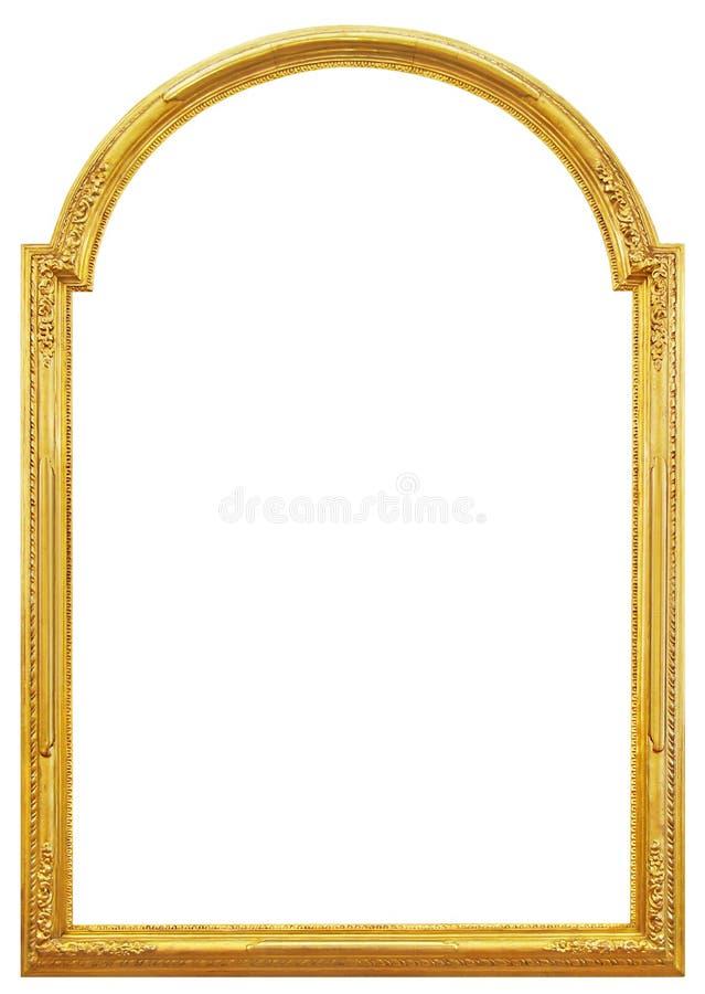 La struttura di legno dorata fotografia stock