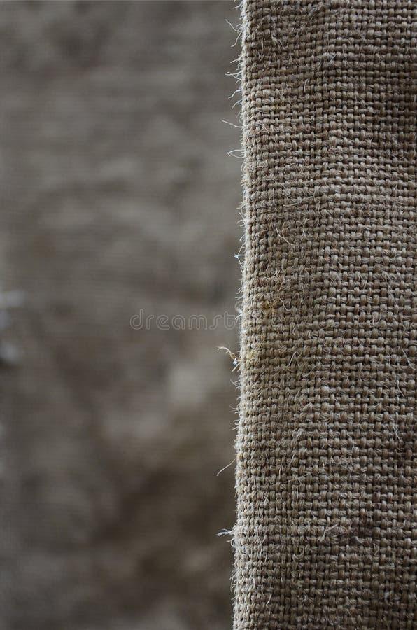 La struttura di panno di sacco marrone molto vecchio Retro struttura con il materiale della tela Immagine di sfondo con lo spazio immagini stock libere da diritti