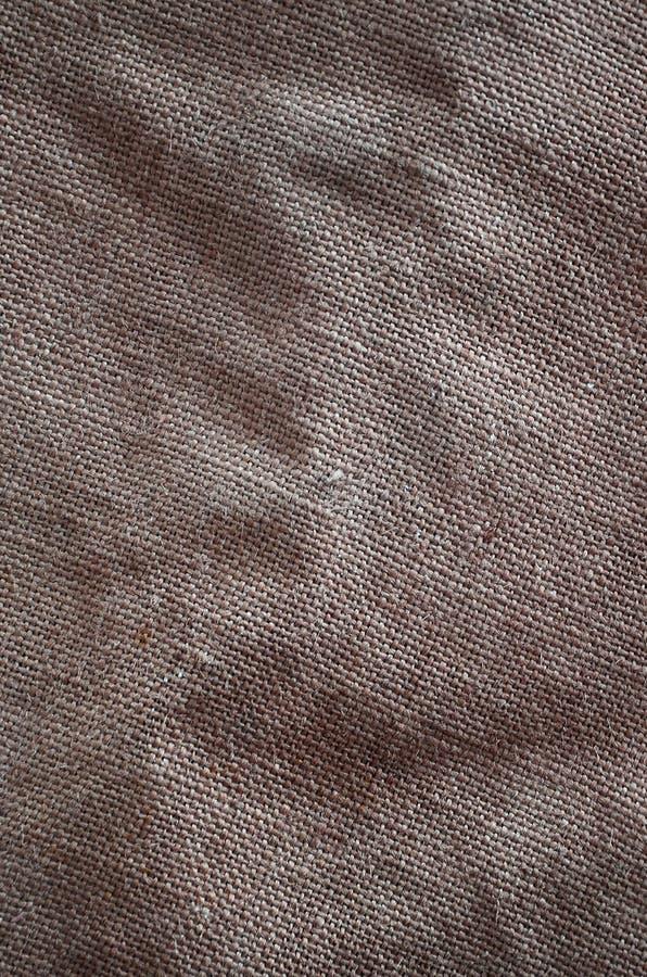 La struttura di panno di sacco marrone molto vecchio Retro struttura con il materiale della tela Immagine di sfondo con lo spazio immagini stock