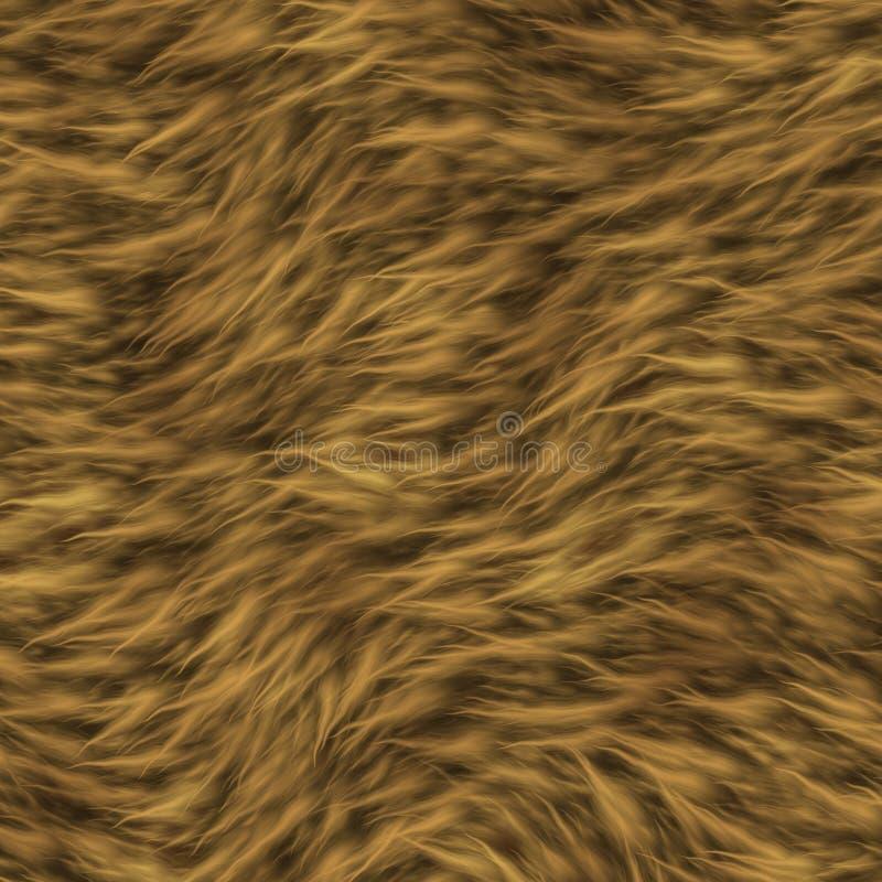 La struttura di pelliccia di un leone. illustrazione di stock