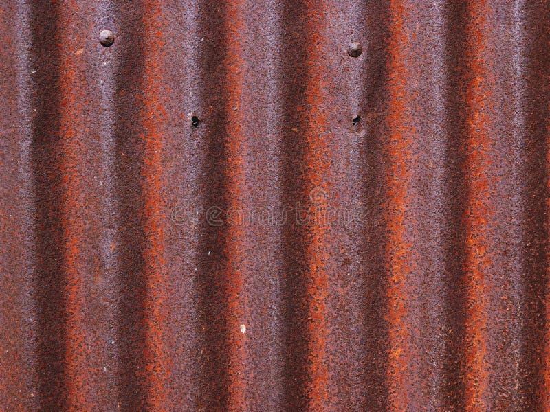 La struttura di vecchia superficie dello zinco ha galvanizzato la ruggine, fondo arrugginito dello zinco fotografie stock libere da diritti
