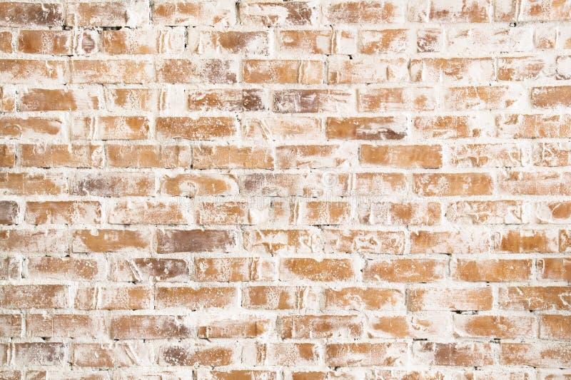 La struttura di vecchio, muro di mattoni bianco e rosso fotografia stock