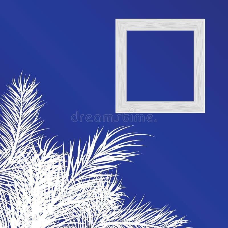 La struttura per una foto contro con il pino si ramifica illustrazione vettoriale