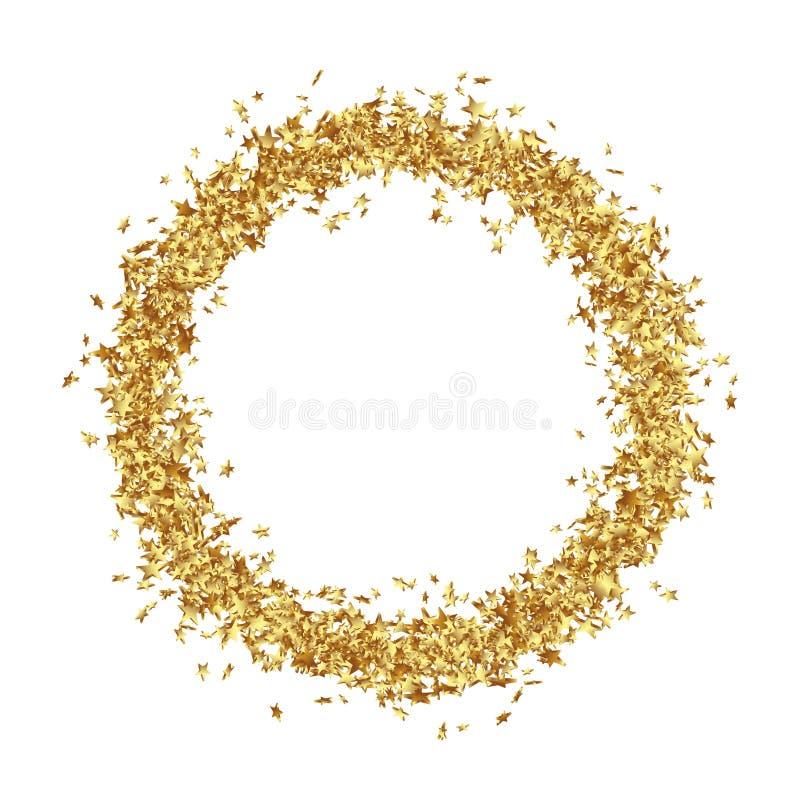 La struttura rotonda consiste dagli asterischi dorati royalty illustrazione gratis