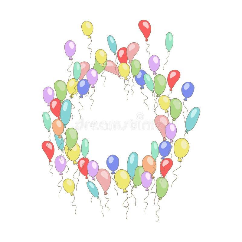 La struttura rotonda della bolla sveglia per testo con il fumetto balloons Vettore variopinto royalty illustrazione gratis