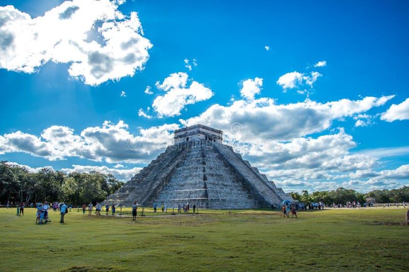 La stupéfaction chichen la civilisation antique du Mexique d'itza images libres de droits
