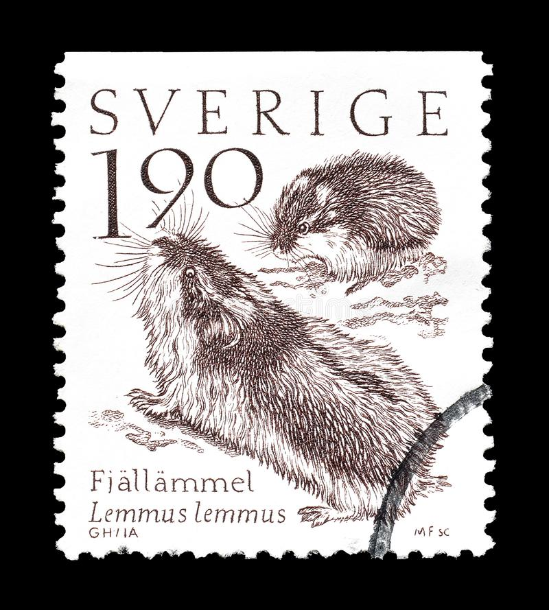 La Su?de sur des timbres-poste photographie stock