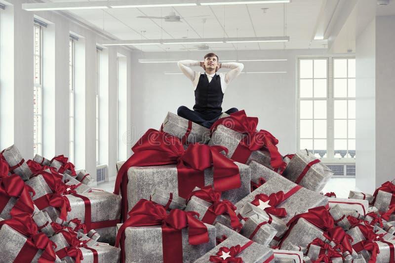 La sua vendita di grande di Natale fotografia stock libera da diritti