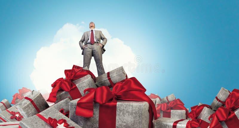 La sua vendita di grande di Natale Media misti fotografia stock