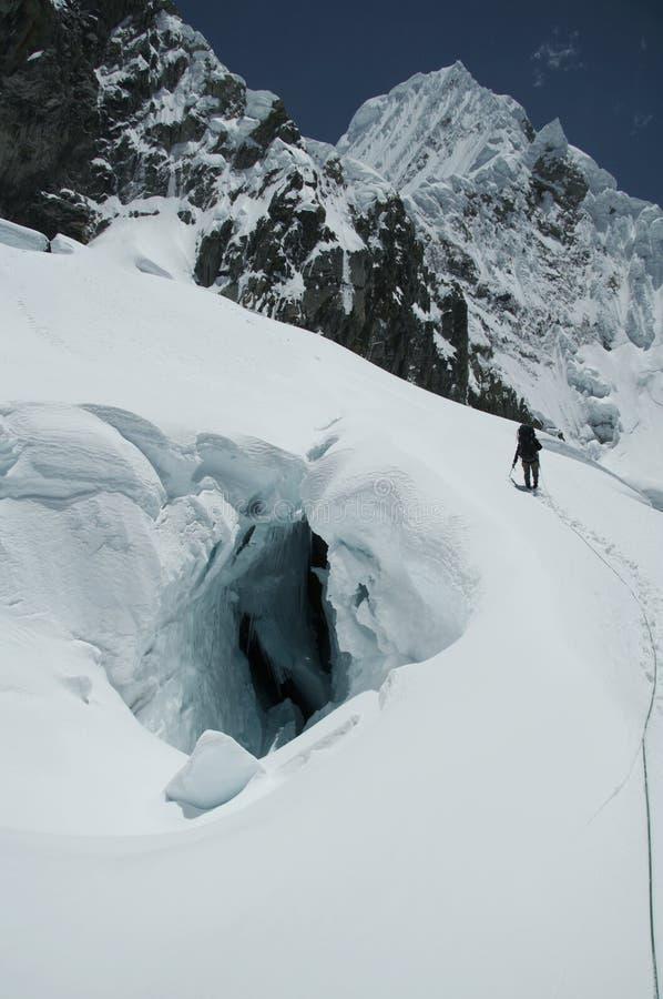 La subida en la Cordillera Blanka fotografía de archivo libre de regalías