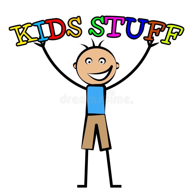 La substance d'enfants représente le temps gratuit et l'enfant illustration libre de droits
