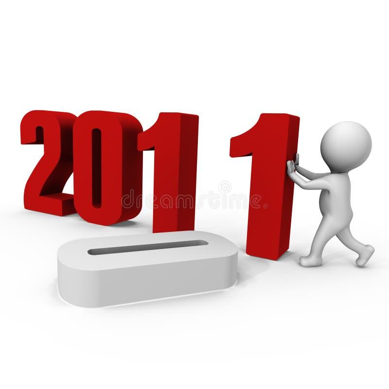 La substitution numérote à l'an neuf 2011 de forme - un ima 3d illustration stock