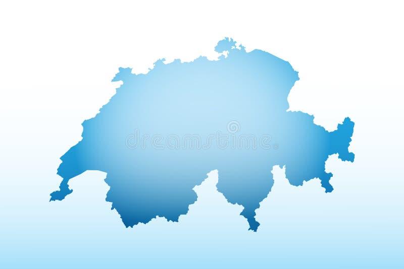 La Suisse bleue cartographie la glace à l'aide d'un vecteur d'effet sombre et léger sur fond lumineux illustration libre de droits