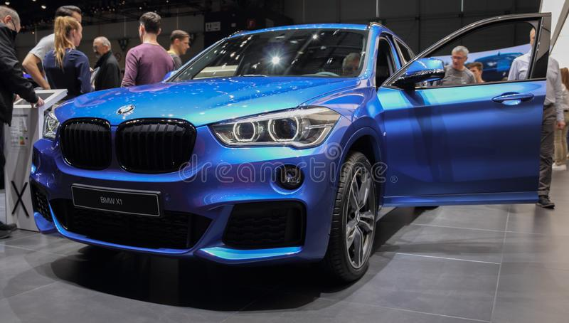 La Suisse ; Genève ; Le 11 mars 2019 ; BMW X1 ; Le quatre-vingt-dix-neuvième Salon de l'Automobile international à Genève de 7ème image libre de droits