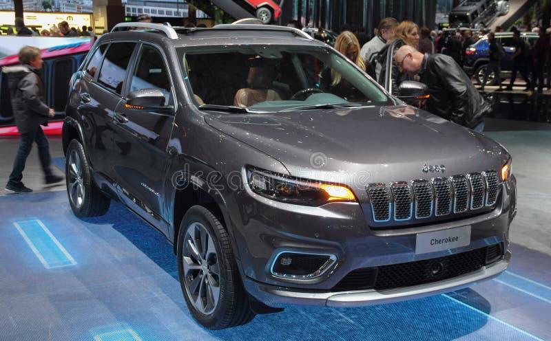 La Suisse ; Genève ; Le 8 mars 2018 ; Jeep Cherokee Overland ;  photo stock