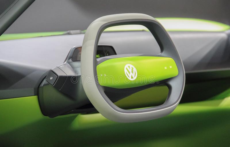 La Suisse ; Genève ; Le 11 mars 2019 ; Volkswagen I d Intérieur avec des erreurs ; Le quatre-vingt-dix-neuvième Salon de l'Automo image libre de droits