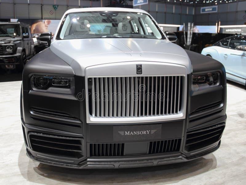 La Suisse ; Gen?ve ; Le 9 mars 2019 ; Milliardaire Rolls Royce Cullinan de Mansory ; Le quatre-vingt-dix-neuvi?me Salon de l'Auto photo libre de droits