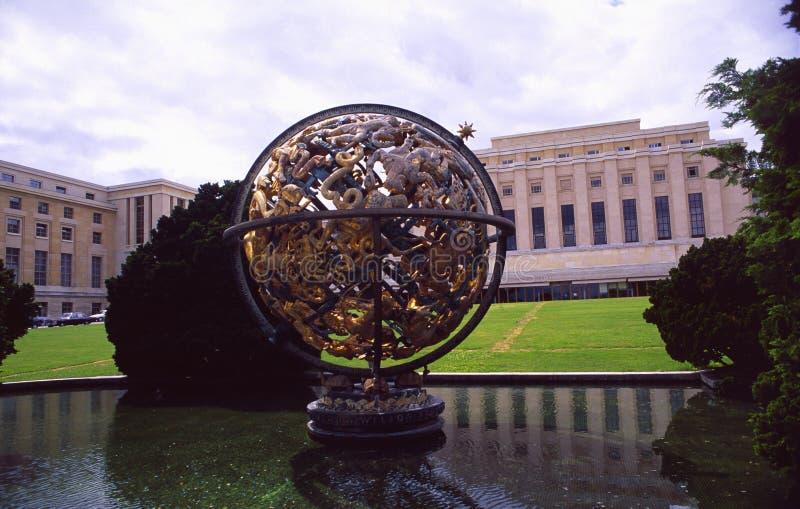 La Suisse : L'ONU-mission et le Palais des Nations à Genève photographie stock libre de droits