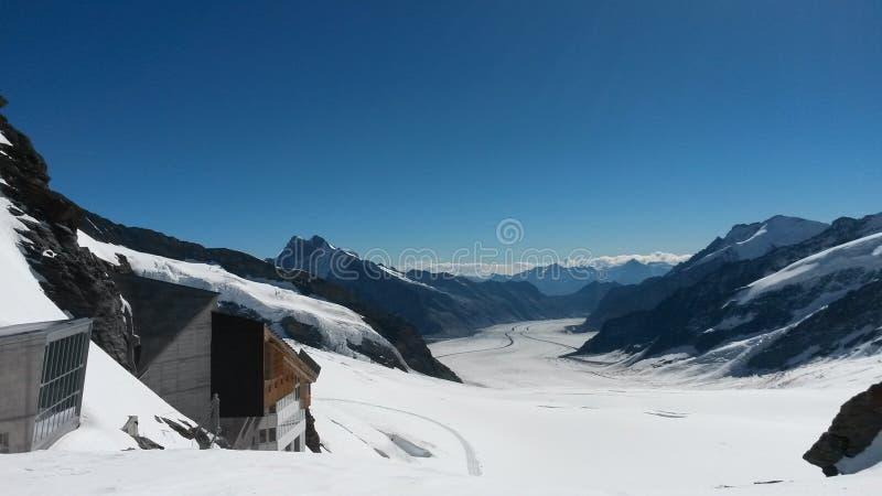 La Suisse - le Jungfraujoch photographie stock