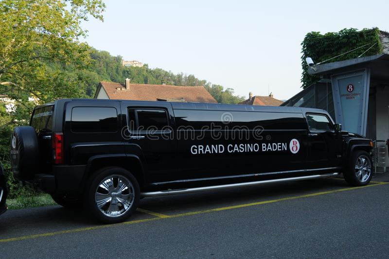 La Suisse : La limousine de bout droit et devant du casino grand en Baden photographie stock