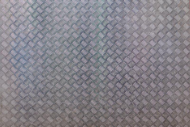 La superficie de la hoja de metal con el modelo industrial como fondo imagen de archivo libre de regalías
