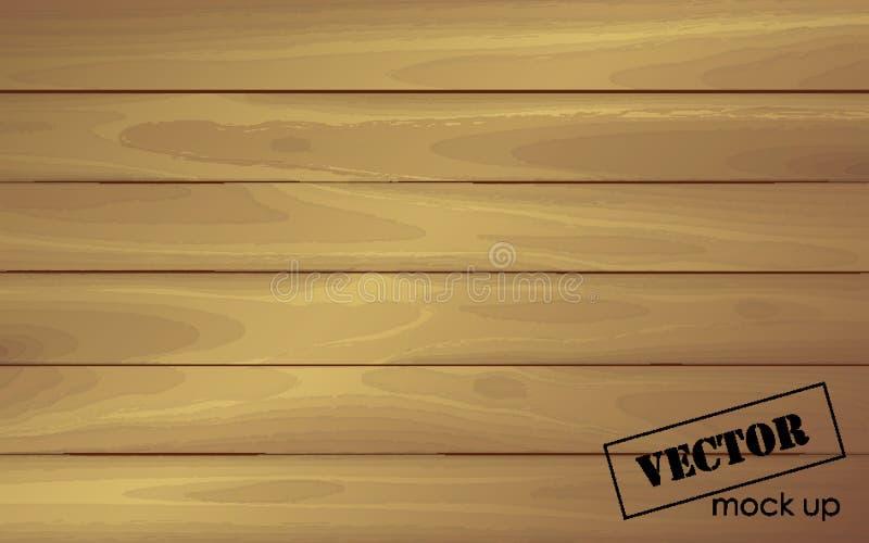 La superficie de madera tablero ligero Madera de imitación Mofa para arriba stock de ilustración