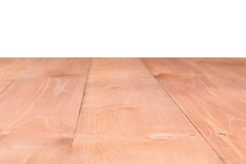 La superficie de la tabla marrón de madera aislada en un fondo blanco ilustración del vector
