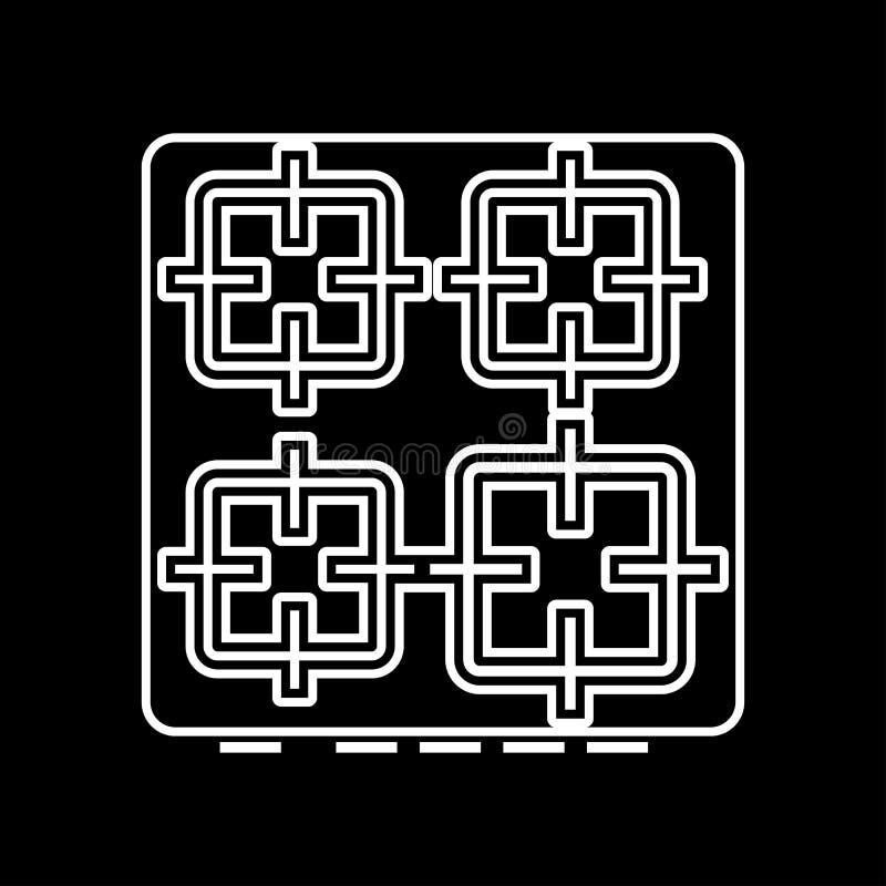 La superficie dell'icona del fornello illustrazione vettoriale