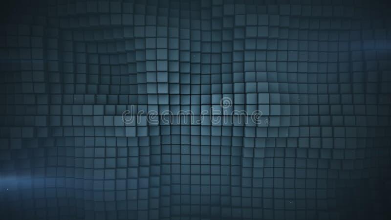 La superficie ondulada del gris cubica la representación abstracta 3D libre illustration